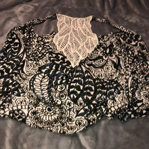 Maurices black and white cover up